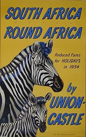Vintage Union Castle Shipping Line Poster to South Africa Poster A3 Reprint