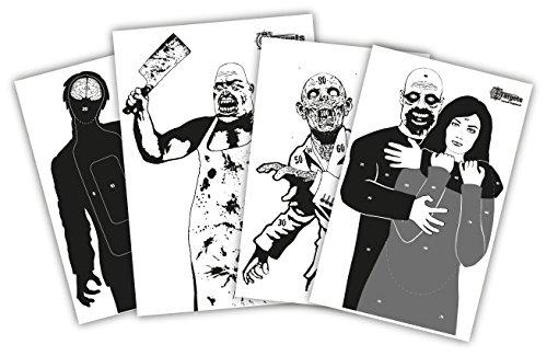 X-Targets Zielscheiben Zombie Package / 4x5 verschieden große Zombie Zielscheiben/Papier 120g/m² (Zombie Zielscheiben)
