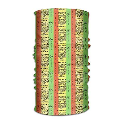 Vidmkeo Reggae Lion Worries Magic Stirnband elastisch Nahtlose Gesichtsmaske Bandanas Hals Balaclava Outdoor Sport Kopfbedeckung Schal, Balaclava, Helmunterlage, ATV/UTV Reiten UV-Beständigkeit New19 (Reggae-stirnband)