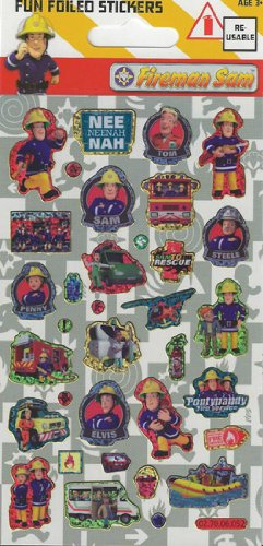Feuerwehrmann Sam - Fun Folie Aufkleber-Blatt (Supplies Party Feuerwehrmann)