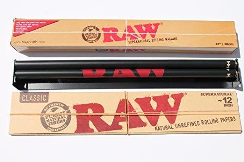 Bundle 2Produkte 1Raw 30,5cm Roller + 1Raw Supernatural 30,5cm Rolling Paper by Raw (Bundle Raw Papers Rolling)