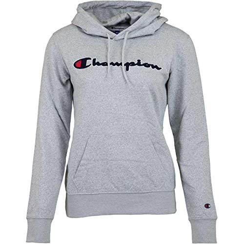 Champion Logo Women Hoody (XL, Grey) Womens Logo Hoody