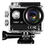 TOPELEK Action Kamera Sport-Actionkamera HD 1080P Action-Kamera mit 30M Wasserfeste Hülle 16MP Wasserdichter Nocken für Schwimmen, Wasserski, Surfen, Klettern, Tauchen usw