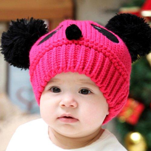hunt-oro-dolce-baby-boy-winter-warm-panda-forma-cotone-lavorato-a-maglia-uncinetto-beanie
