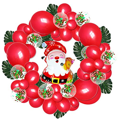 Santa Claus Maskottchen - P12cheng Weihnachtsballons Dekoration 74 Stück Weihnachtsmann
