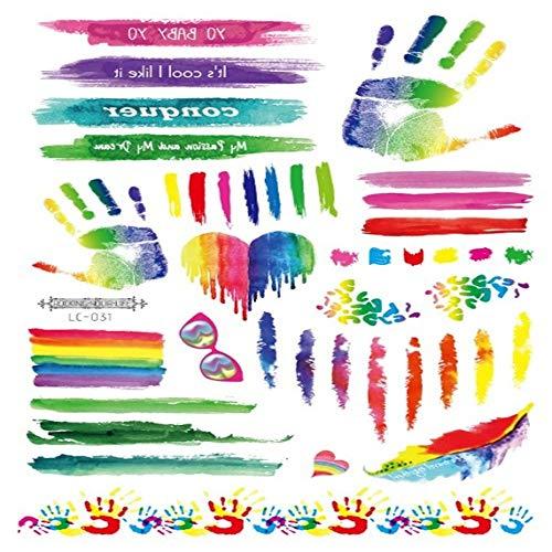zgmtj Umweltfreundliche wasserdichte Regenbogen Coole Camouflage Tattoo Aufkleber 7 210×150mm -