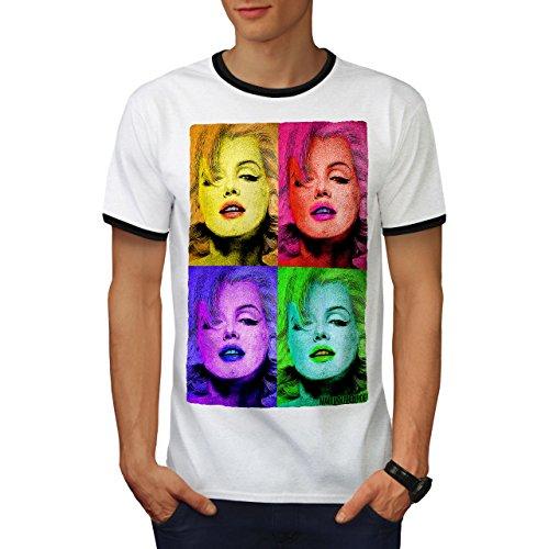 Marilyn Monroe Berühmt Symbol Herren L Ringer T-shirt | Wellcoda (Von Teppich Authentisch Shirt)