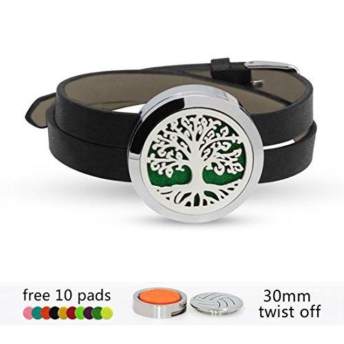 30mm edel Stahl Wolken Medaillon Baummuster Aromatherapie ätherisches Öl Diffusor Armband für jungen - Ätherisches Öl-produkte-kits
