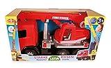 Lena 02175 - Starke Riesen Feuerwehr Kranwagen Mercedes Benz Arocs, rot, ca. 70 cm, Kranauto mit 3 Achsen, großes Spielfahrzeug für Kinder ab 3 Jahre, robuster Feuerwehrkran mit Seilwinde bis 1,05 m Test