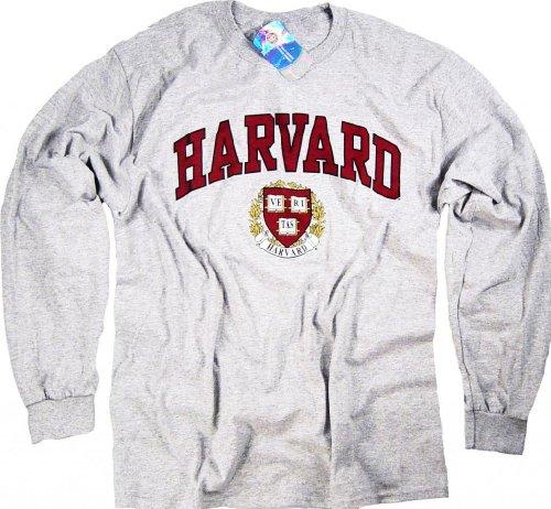 Officially Licensed by Harvard University Herren Sweatshirt Grau Grau (Offiziell Lizenzierte Crewneck)