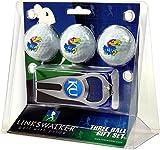 LinksWalker 3Kansas jayhawks-3Ball Geschenk Pack mit Hat Trick Pitchgabel, Weiß, One size