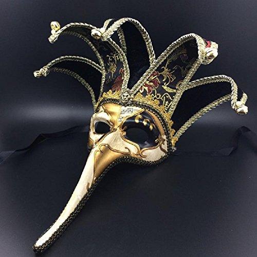 XJoel venezianische Maske handgefertigte bunte bemalte Musikpartitur Abendgesellschaft Prom Masquerade Maske (Rob Halloween Maske Zombie)