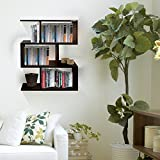 #4: Klaxon Home Decor Wooden Wall Shelves / Book Shelf And Storage Wall Shelves- (Brown,Matte Finish)(Do It Yourself – DIY)