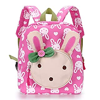 IGNPION Nursery Kids Backpacks Toddle 1-4 Years Children School Bag Zoo Lunch Bag 3D Cute Animal Cartoon Preschool Rucksack (Pink Rabbit)
