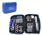 MIER Impermeable Pequeño Bolsa Médica Primeros Auxilios Vacío Bolsos Kit de Emergencia Médico Organizador Bolsa de almacenamiento para el hogar, Oficina, Viajes, Escuela (Azul)