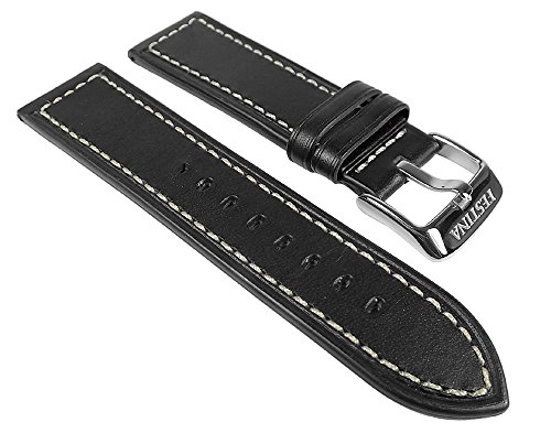 Festina Ersatzband Uhrenarmband Leder Band 24mm schwarz/Weiss F16491/1 F16491/