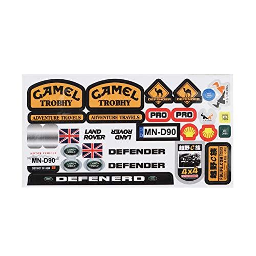 Micro Sponsor Logo Racing-Aufkleber-Blatt allgemeinhin für WPL & MN RC Car Crawler Aufkleber Teile RC Autoteile Haltbarkeit (Multi-Farben) -