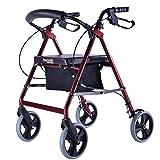 Lxn Älteres Mobilitäts-Fahrzeug/Wagen mit der Sitz-Riemenscheiben-Stoff-Zufuhr tragbar mit Handbrake Trolley Walker