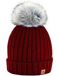 12c697486cce1 4sold Rita Womens Girls Winter Hat Wool Knitted Beanie with Large Pom Pom  Cap SKI Snowboard