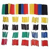 DEtrade 328 Stück Schrumpfschlauch Schlauch Wire Sleeve Wrap Hitze Schrumpfbar Tube (Multicolor)