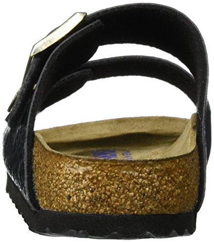 Birkenstock - Arizona Birko-flor, Pantofole Donna Schwarz (Myda Night)