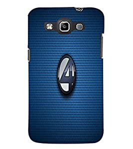 PrintDhaba Numerology Number 4 D-1601 Back Case Cover for SAMSUNG GALAXY WIN i8552 (Multi-Coloured)
