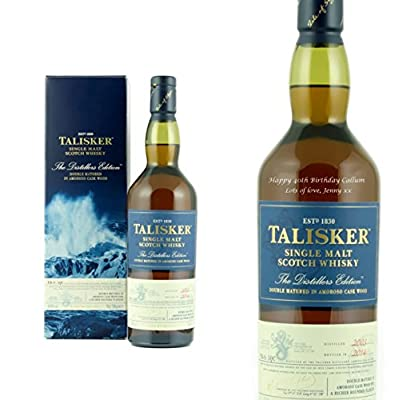 Personalised Talisker Distillers Edition Single Malt Whisky 70cl Engraved Gift Bottle