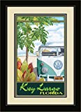 Northwest Art Mall ed-5877mfgdm STH Key Largo Florida Truck Hula gerahmtes Wandbild Kunst von Künstlerin Evelyn Jenkins Drew, 33x 40,6cm