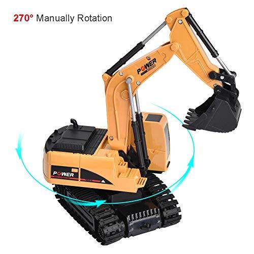 RC Auto kaufen Baufahrzeug Bild 4: Dilwe Fernbedienung Bagger, 6 Kanäle Bagger LKW 1/24 RC Engineering Baufahrzeug Spielzeug Geschenk für Kinder ( Kunststoff)*