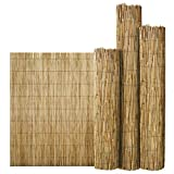 FlickBuyz Bamboo Natural Garden Peeled Reed Fence Screening Roll Privacy Border Wooden Wind/Sun Protection