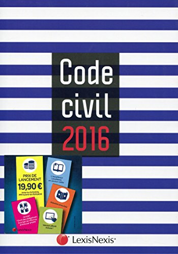 Code civil 2016 : Jaquette marin por Laurent Leveneur, Collectif
