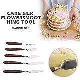 kingpo Cream Scraper Drawshave Pastry Spatulas Malmesser Back- & Konditoreiwerkzeuge Küchenzubehör 5St