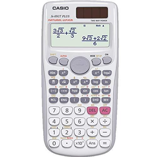 Casio Plus Wissenschaftlicher Taschenrechner, 260 Funktionen, britische Marke, für Schulen, Hochschulen, GCSS und A-Ebene, Dual-Power-Solar, mit Batterie-Backup, Weiß