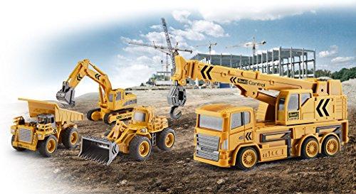 RC Auto kaufen Baufahrzeug Bild 6: Revell Control 23497 RC Baufahrzeug Kranwagen, 40MHz, Akku ferngesteuertes Auto, gelb-orange, 12,5 cm*