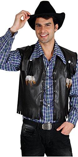 Imagen de chaleco disfraz vaquero deluxe para adulto negro alternativa