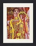 1art1 113656 Gustav Klimt - Hygieia, Detail aus der Medizin, 1900-1907 Gerahmtes Poster Für Fans und Sammler 40 x 30 cm