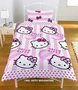 Parure de lit housse de couette taie hello kitty amazon - Hello kitty housse de couette ...