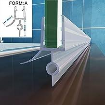 100 cm Duschdichtung Wasserabweiser Schwallschutz Ersatzdichtung Duschprofil Dichtung für Glasscheibe 5-6mm