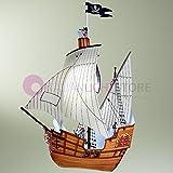 Barco Piratas lámpara de techo para dormitorio niño niños barco de capitán Gancho