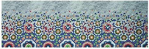 CapitanCasa Tappeto Passatoia Antiscivolo in Stampa Digitale Mosaico Sprinty L'Originale Dis. Mosaico Digitale 50x320 Mosaico c35210