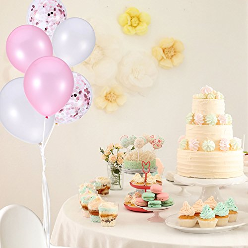 Yalulu Rose Gold Letter Foil Balloons Its a Girl Baby Girls Baby Shower Newborns Birthday Party DIY Decoration