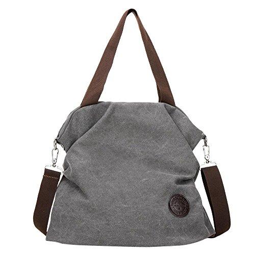 UCKDE Business Laptoptaschen Daypacks Einkaufstaschen Taschen Shopper Grosse Handtaschen Tote Taschen Segeltuchrucksack Reisetaschen Hobo Bags (Graue) (Graue Tote Bag)