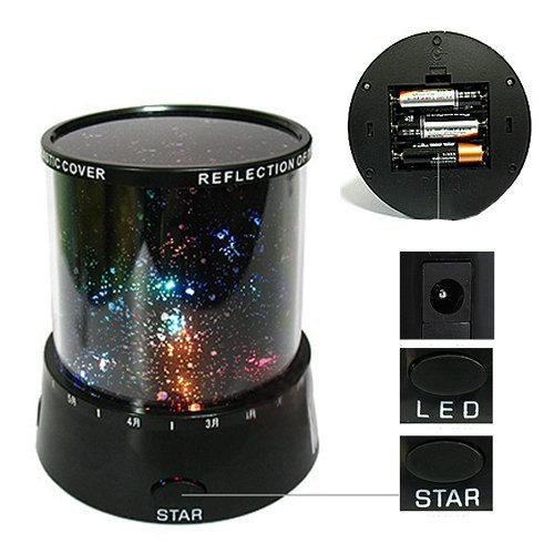 4square Night Sky Moon Stars Living Star Master Projector with USB Wire