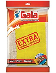 Gala Dual Technology Floor Cloth Set (Pack of 6, White and Yellow)