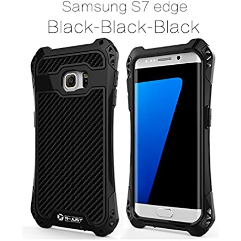 Galaxy S7 Edge Case, Full-body Rugged Holster Cover Protection from Drops and Impacts for Samsung Galaxy S7 Edge Black