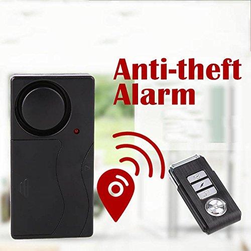 Giantree Alarmas de seguridad de control remoto antirrobo inalámbrico Seguridad de bricolaje Sistema de alarma de seguridad Sensor magnético con control remoto