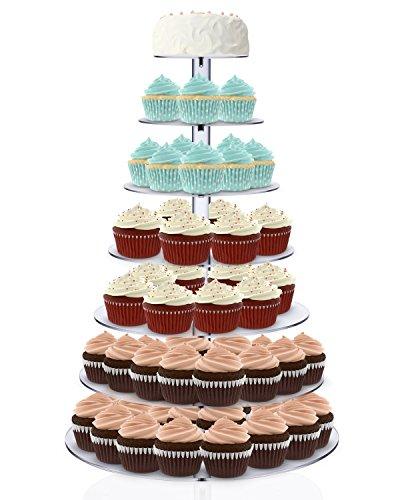 Kuchenständer,Kuchen stehen 7-Stufig Acryl Halten Cupcakes Desserts für Hochzeit Party Baby Duschen Hochzeiten (Rund)