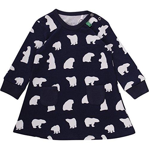 Fred's World by Green Cotton Baby-Mädchen Kleid Bear Dress Blau (Navy 019392001), 92