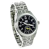 Ball Trainmaster Dual Time Black Dial Stainless Steel Men's Watch GM1056D-SJ-BK