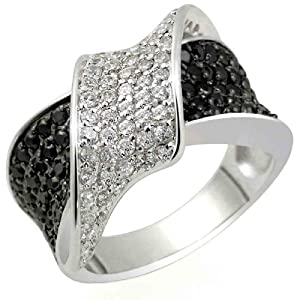 Goldmaid Damen-Ring 925 Sterlingsilber Band aus weißen Zirkonia